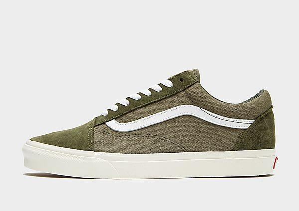 Vans Vans Old Skool Knit - Green/White - Mens SOLEHEAVEN