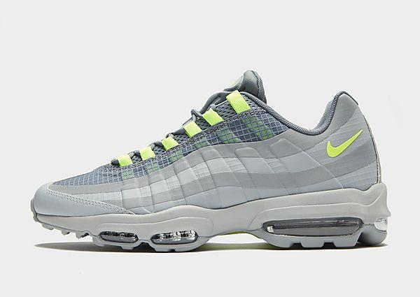 Nike Nike Air Max 95 Ultra SE - Grey/Volt - Mens SOLEHEAVEN