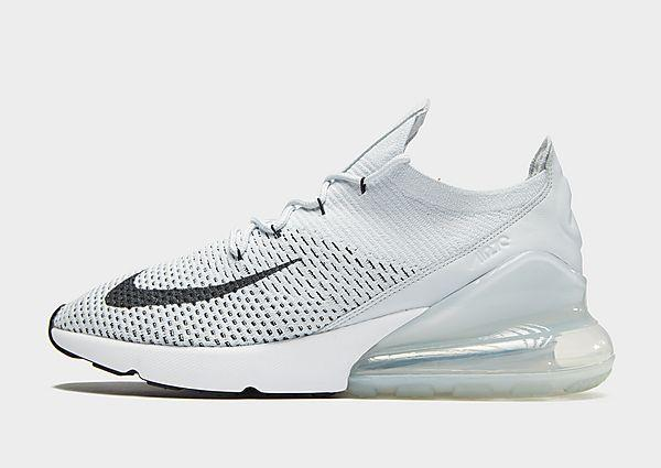 Nike Air Max 270 Flyknit - Grey/White - Mens