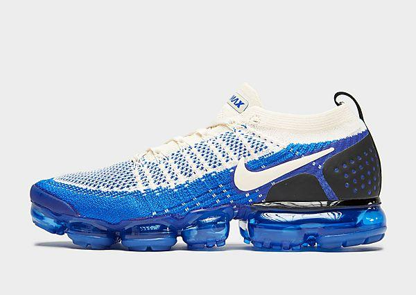 Nike Air VaporMax Flyknit 2 - Cream/Blue - Mens