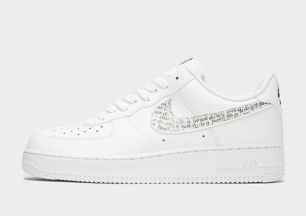 Nike Air Force 1 Low 'Just Do It' - White/Black/Orange - Mens