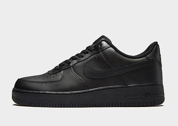 Nike Nike Air Force 1 Low - Black/Black - Mens SOLEHEAVEN