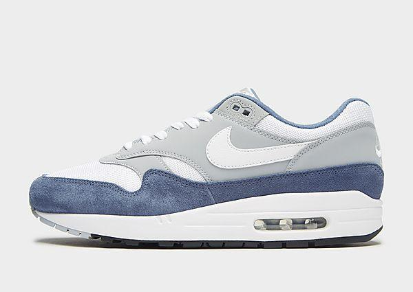 Nike Nike Air Max 1 - White/Grey/Blue - Mens SOLEHEAVEN