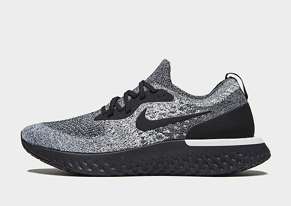 Nike Nike Epic React Flyknit - Grey/Black - Mens SOLEHEAVEN