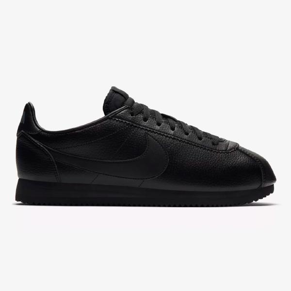 Nike Nike Cortez Leather  Triple Black  at Soleheaven Curated ... 0ddc2541049