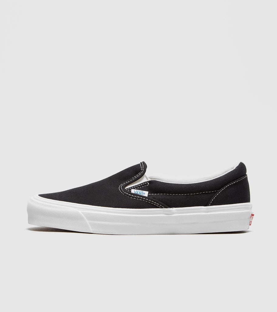 Buy Vans Vans Vault OG Classic Slip On, Black/White size? online now at Soleheaven Curated Collections