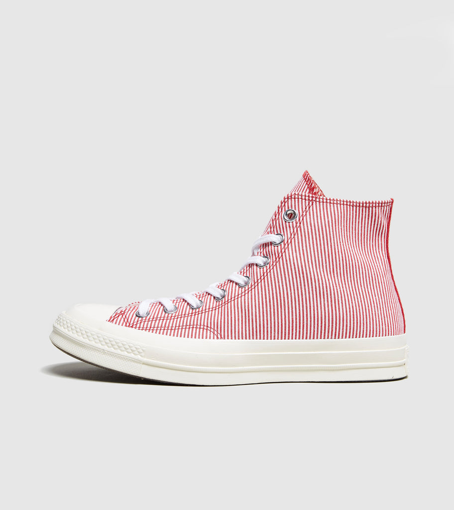 Converse Converse Chuck Taylor Striped Chambray, Red/White SOLEHEAVEN