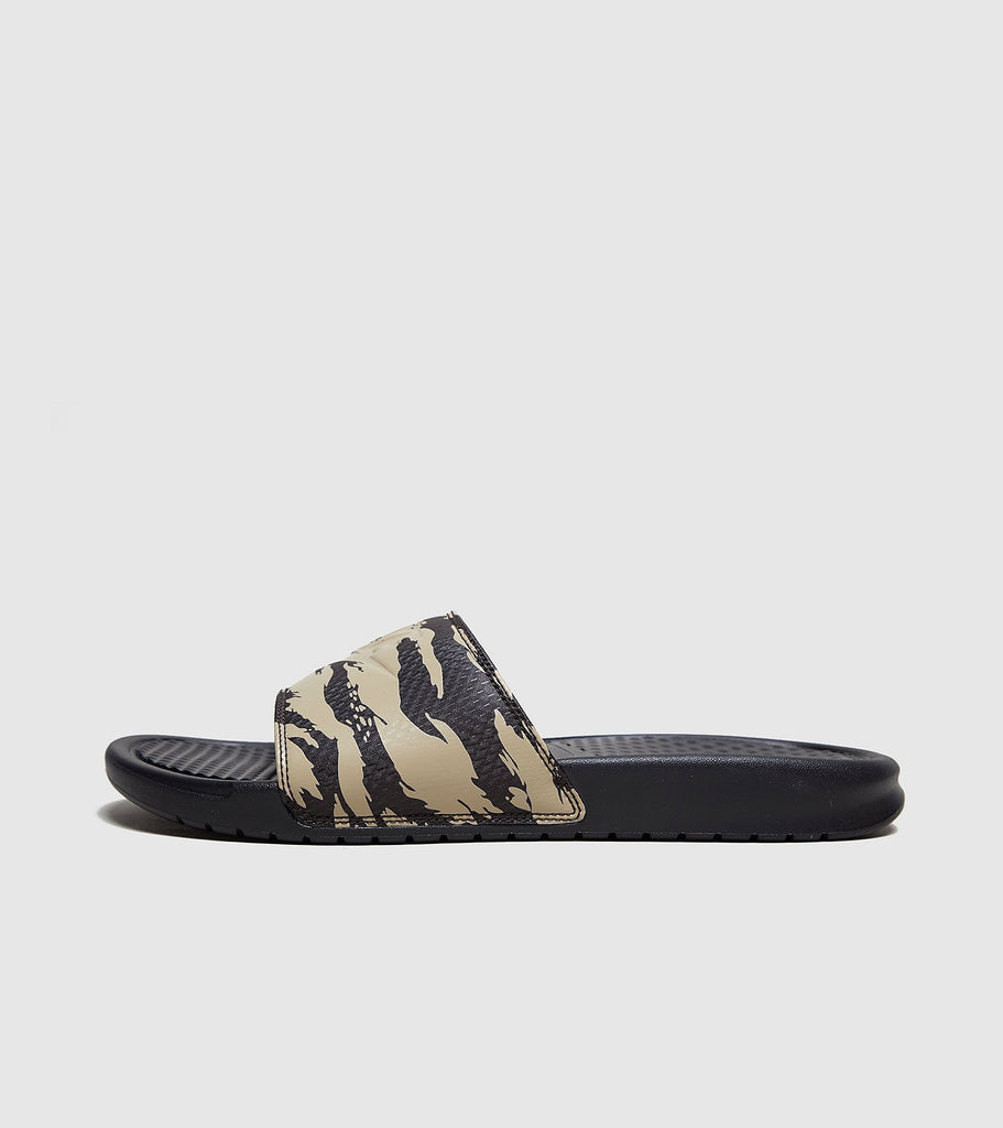 Buy Nike Nike Benassi Slides, Green/Camo size? online now at Soleheaven Curated Collections