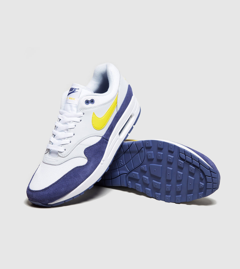 Buy Nike Nike Air Max 1, White/Yellow/Blue size? online now at Soleheaven Curated Collections