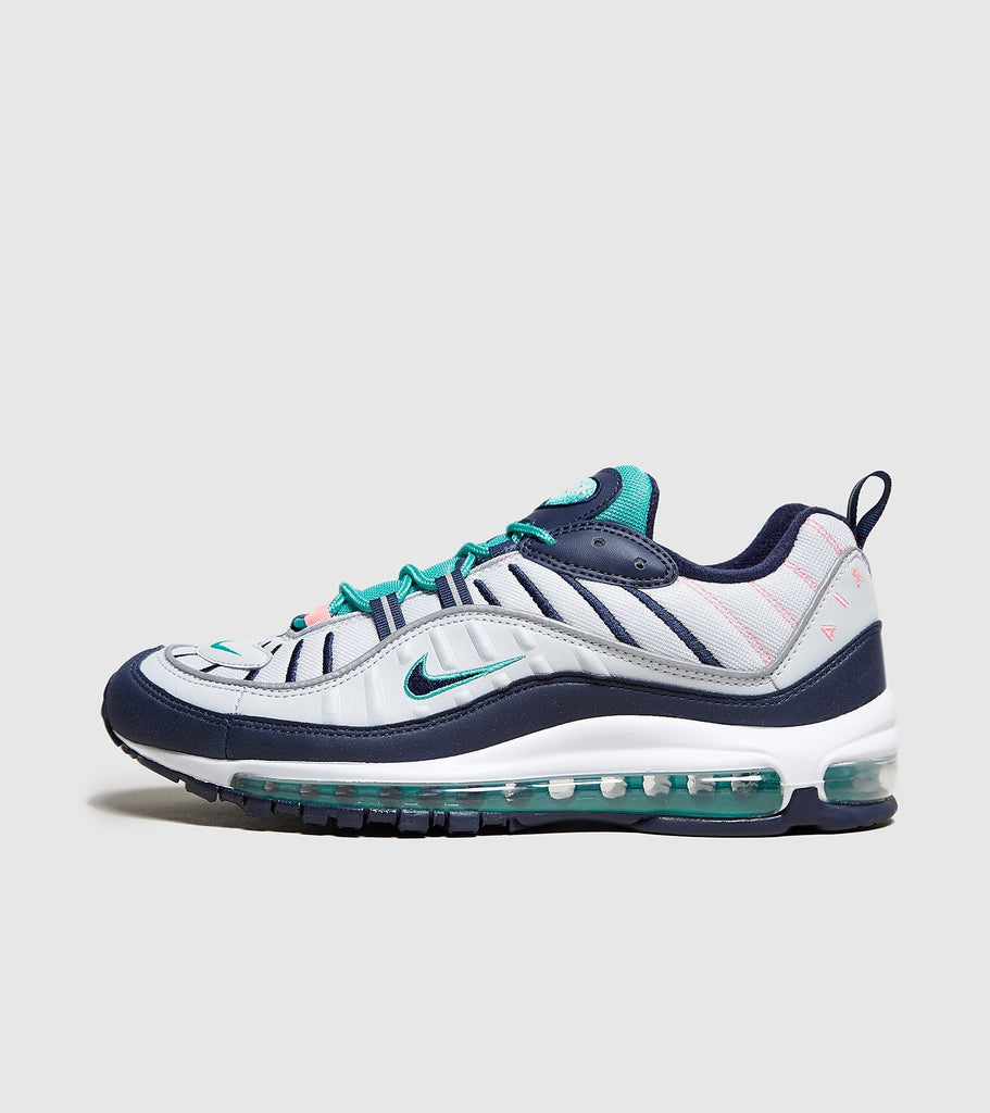 Nike Nike Air Max 98, White/Navy/Green SOLEHEAVEN
