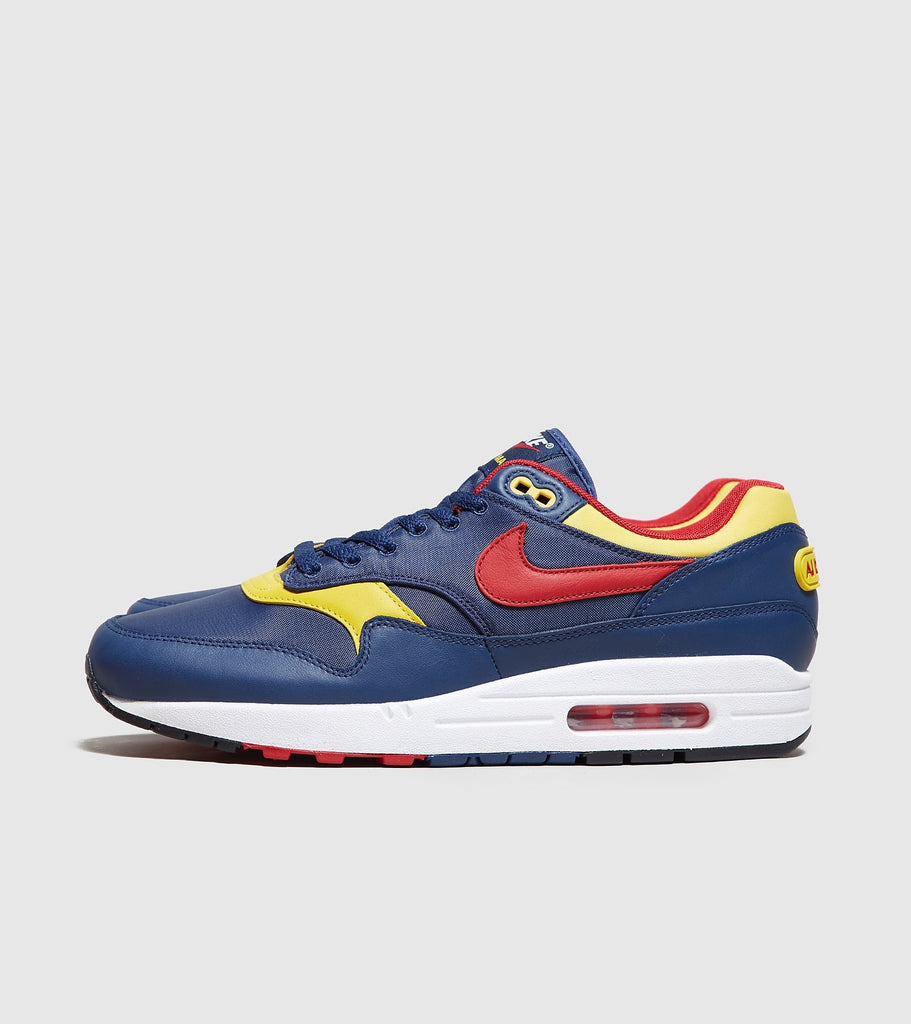 Nike Nike Air Max 1 Premium, Blue/Yellow SOLEHEAVEN