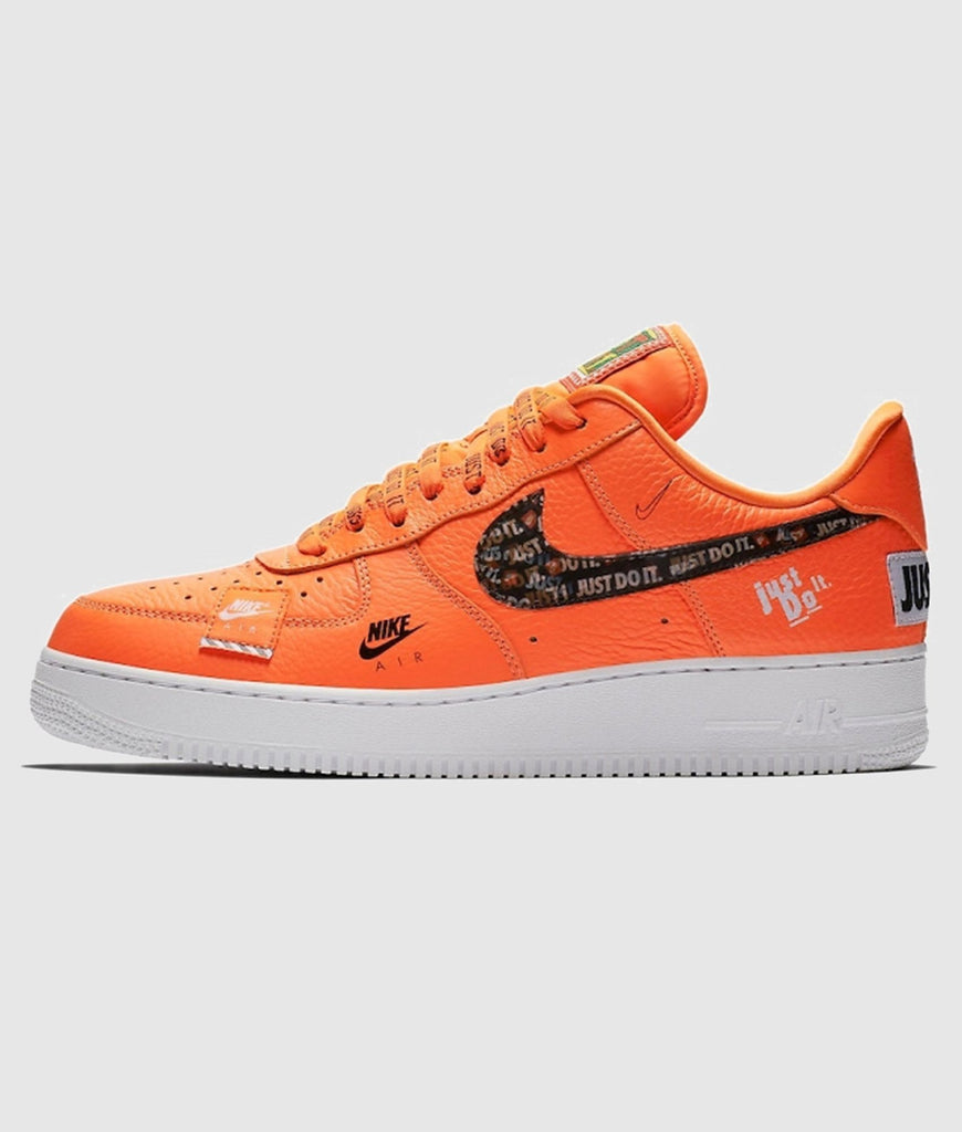 Nike Nike Air Force 1 '07 Premium 'Just Do It' Women's, Orange SOLEHEAVEN