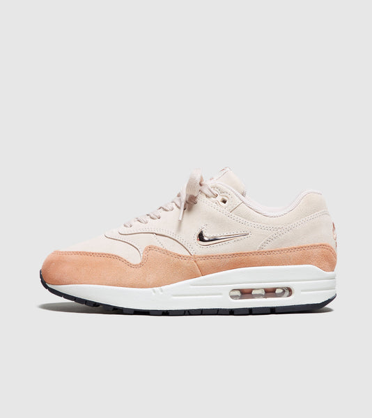 Nike Nike Air Max 1 Jewel Women's, GUAVA/White SOLEHEAVEN