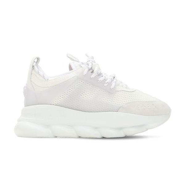 Versace trainers Versace Chain Reaction 'White Mesh' SOLEHEAVEN
