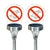 No Pooping Allowed Solar Plaque Light (2 pc set)
