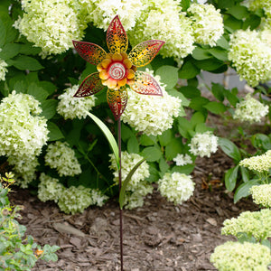 Filigree Flower Pinwheel - Sunburst