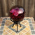 "4"" Clear Mauve Globe with Orchid Stand"