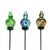 LunaLite Finial Pot Stake Assortment 3pc set