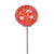 "8"" Elliptical Lollipop Globe Stake - KD (Red-Orange)"