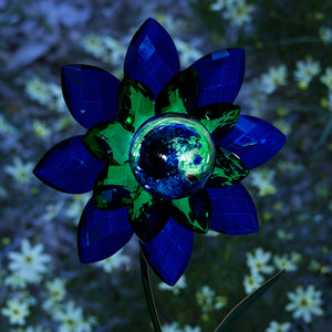 Illuminarie Gem Flower Stake - Blue/Green