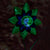 Illuminarie Gem Flower Stake - Green/Blue