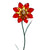 Illuminarie Gem Flower Stake - Amber/Red