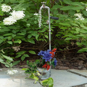 Vintage Bucket Planter-Faucet Light