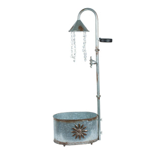 Vintage Tub Planter-Shower Light