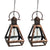 Pyramid Pendant Edi-Sol Lantern - Set of 2