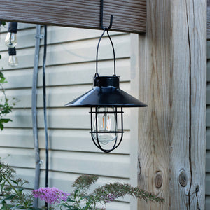 Marine Pendant Edi-Sol Lantern with Shepherd's Rod - Black