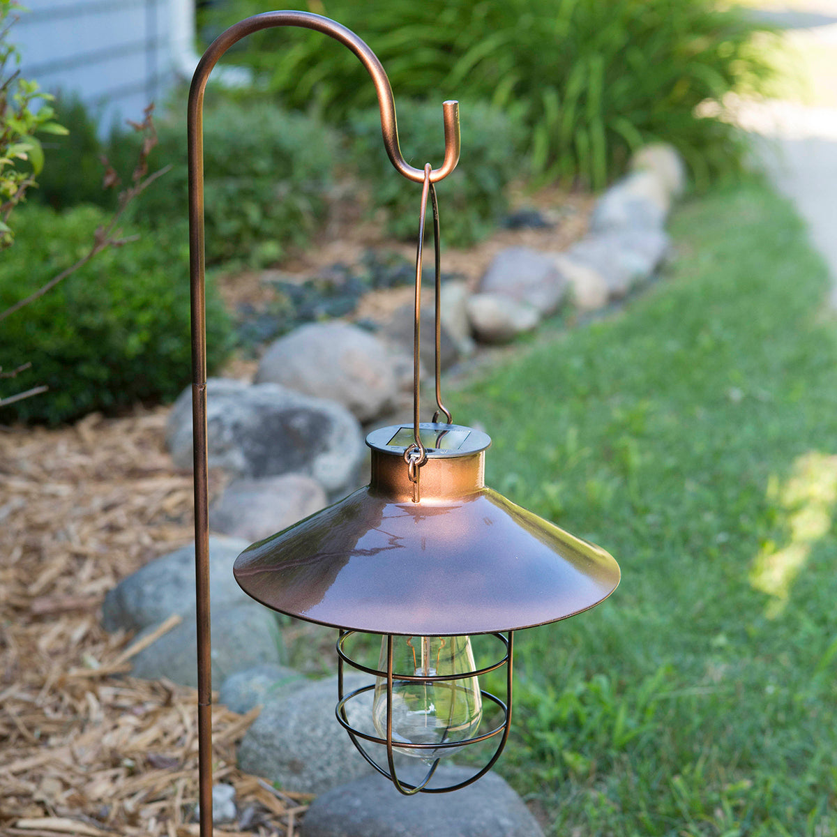 Marine Pendant Edi-Sol Lantern with Shepherd's Rod - Copper