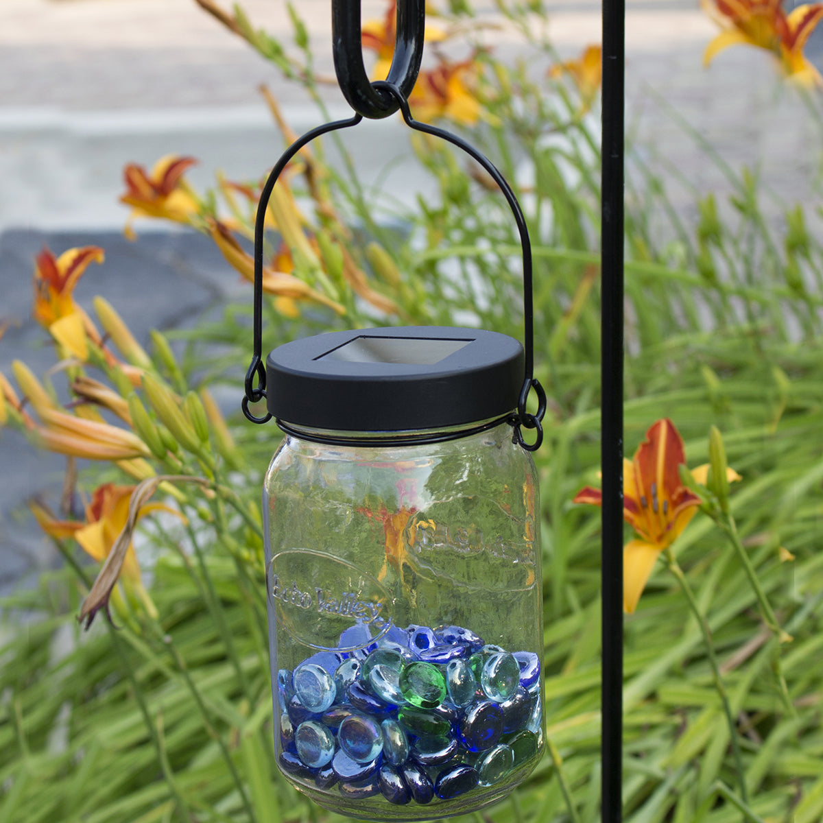 Lg. Mouth Jar Solar Lid w/ Hanger (Set of 2)