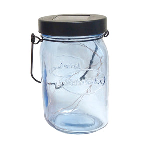 Twinkle Light Solar Jar Lantern (Blue)