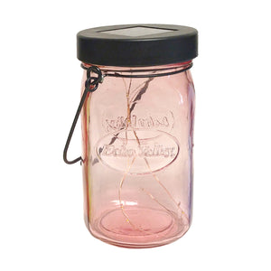 Twinkle Light Solar Jar Lantern (Pink)