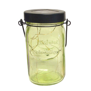 Twinkle Light Solar Jar Lantern (Green)