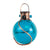 "LunaLite 6"" Crackle Globe Lantern - Blue"