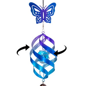 Butterfly Honeycomb Hanging Solar Spinner