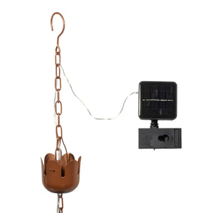 Tulip Solar Illuminated Rain Chain