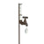 Faucet Rain Gauge Stake w/ Gem - Antique Rust