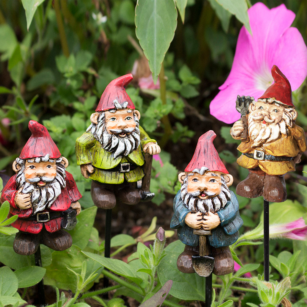 Mini Gnome Plant Pic Ass't (4 pc set)