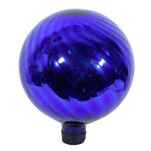 "10"" Blue Chrome Swirl Gazing Globe"