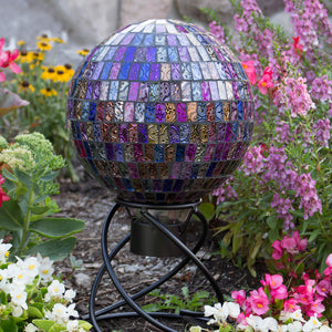 "10"" Parti-Colored Mosaic Globe"