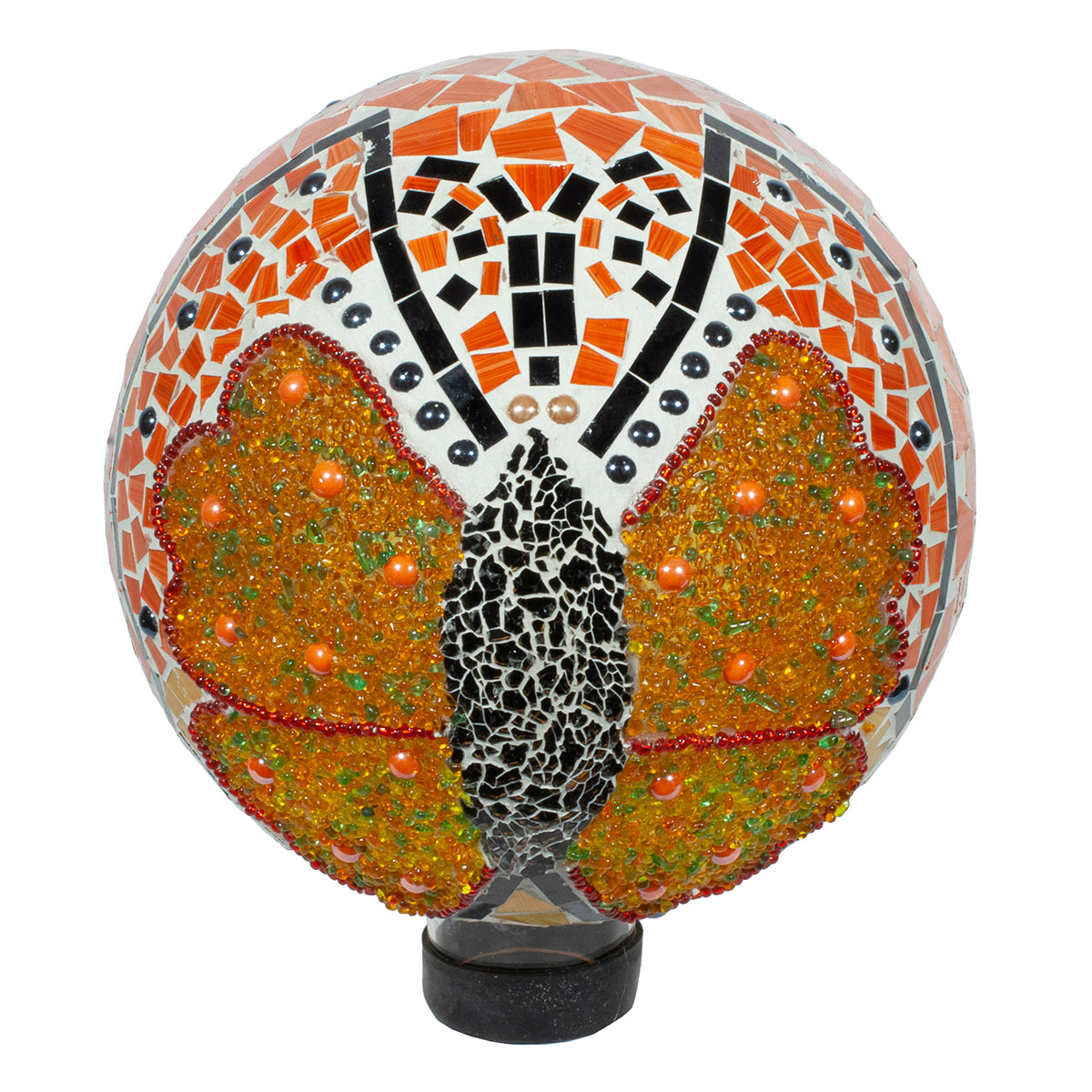 "10"" Butterfly Jeweled Mosaic Gazing Globe"