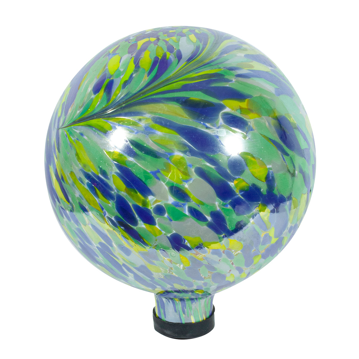"10"" Iridescent Peacock Burst Gazing Globe"