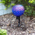 "10"" Translucent Blue Embossed Globe"