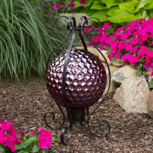 "10"" Purple Hexagon Dimpled Globe"