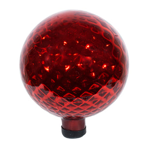 "10""  Red Diamond Embossed Globe"