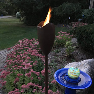 EchoFlame Hammered Garden Torch
