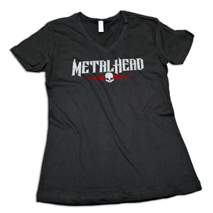 "Women's ""Metal Head"" V-Neck Shirt"