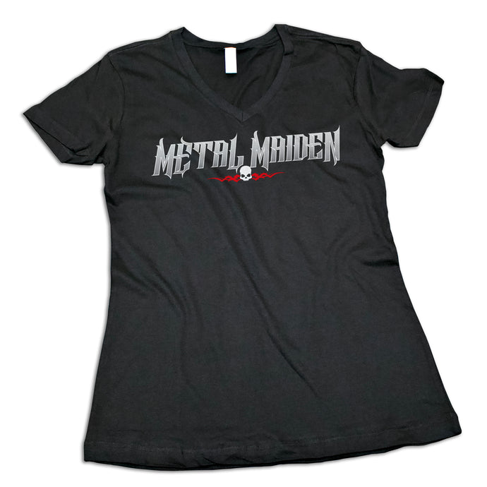 "Women's ""Metal Maiden"" V-Neck Shirt"